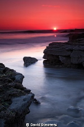 Sunset over Southerndown on the Welsh Heritage coast by David Stephens 